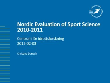 Nordic Evaluation of Sport Science - GIH