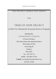TREES OF HOPE PROJECT - Plan Vivo