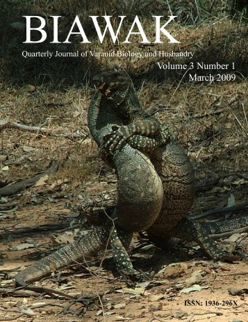 Vol. 3 No. 1 - International Varanid Interest Group