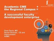 Academic CME + the Regional Campus - AAMC