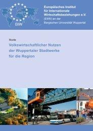 Volkswirtschaftlicher Nutzen der Wuppertaler Stadtwerke für die ...