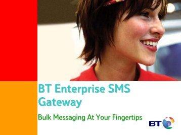 BT Enterprise SMS Gateway - BT.com