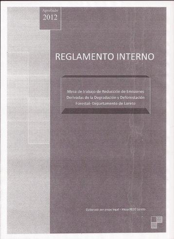 Reglamento Interno mesa REDD-Loreto.pdf - Inicio - Gobierno ...