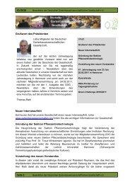 Seite 1 01/2010 Grußwort des Präsidenten Neuer ... - DGG