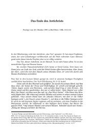 3.89 Das Ende des Antichrists. Off. 19,11-21. Biel-Mett 20.10.91
