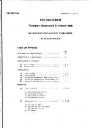 PULSAFEEDER Pompes doseuses à membrane