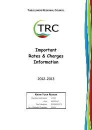 Rates Information Pamphlet 2012-2013 - Tablelands Regional Council