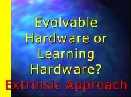Extrinsic Evolvable Hardware. - Electrical & Computer Engineering ...