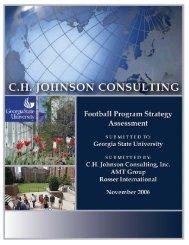 Football Feasibility Study - Georgia State University Athletics