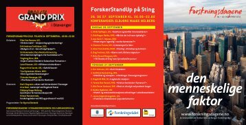 Program for Forskningsdagene (PDF) - Arkeologisk museum ...
