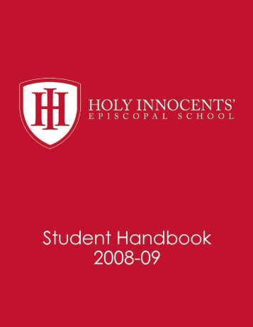 HIES Student Handbook 2008-2009 - Holy Innocents' Episcopal ...