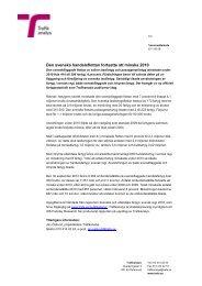 Den svenska handelsflottan fortsatte att minska 2010 - Trafikanalys