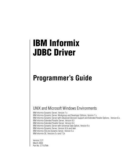 INFORMIX JDBC TREIBER WINDOWS 7