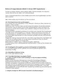 Referat af Grupperådsmøde afholdt 23. februar 2009 i Spejderhytten