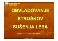 stroški sušenja - Oddelek za lesarstvo - Univerza v Ljubljani