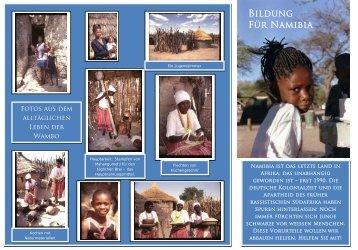 Flyer Bildung für Namibia e.V..pdf - Ulf G. Stuberger
