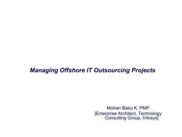 Managing Offshore IT Outsourcing Projects - gt islig