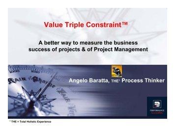 Value Triple Constraint™ - gt islig