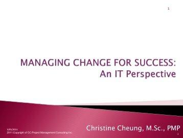 Managing Change for Success - gt islig