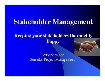 Stakeholder Management - gt islig