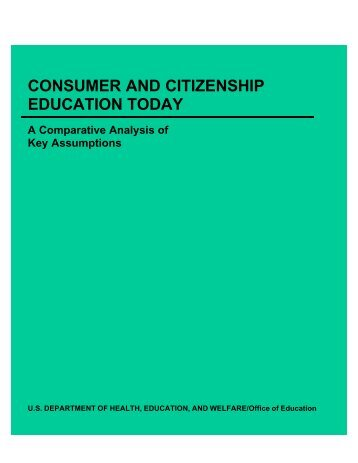 consumer and citizenship education today - Consumers International
