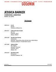 JESSICA BARKER - Agence Goodwin