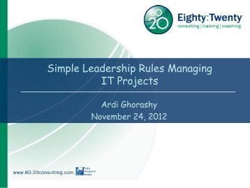 Simple Leadership Rules Managing IT Projects - gt islig