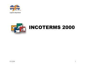 incoterms and tradeterms exw fca fas Start studying incoterms learn ex works named place (exw) an for the interpretation of the most commonly used trade terms in foreign trade which parties to a.