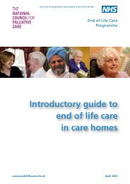 Introductory guide to end of life care in care homes - Action on Elder ...