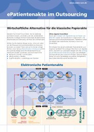 Alpha Com Flyer ePatientenakte, Aktualisierung