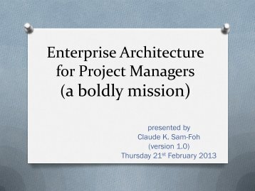 Enterprise Architect - gt islig