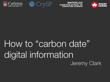 """How to """"carbon date"""" digital information"""