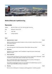 Referat Mosvatn hytteforening Styremøte