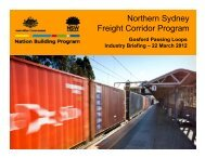 Northern Sydney Freight Corridor Program - Transport for NSW ...
