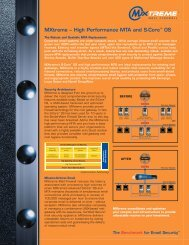 MXtreme – High Performance MTA and S-Core ... - Firewall Systems