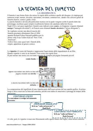 la tecnica del fumetto - La Teca Didattica