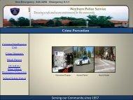 Crime Prevention - City of Weyburn