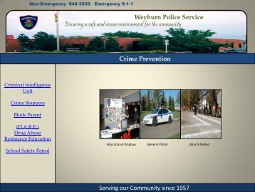 Crime Prevention - City of Weyburn