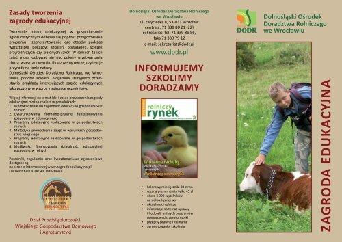 Ulotka - Dolnośląski Ośrodek Doradztwa Rolniczego we Wrocławiu