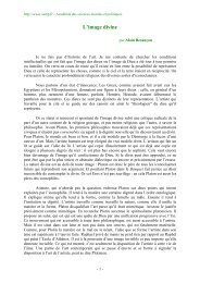 L'image divine - Académie des sciences morales et politiques