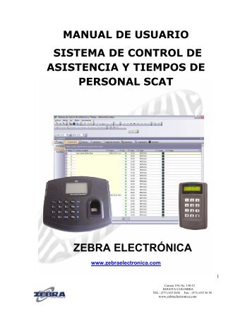 MANUAL DE SOFTWARE SCAT.pdf - Zebra Electronica