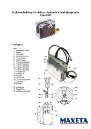 Brukerveiledning for elektro - hydraulisk høytrykkspresse - Vivendi AS
