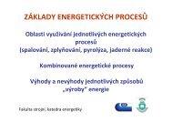 ZÁKLADY ENERGETICKÝCH PROCESŮ