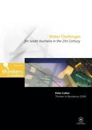 Water Challenges for South Australia in the 21st Century - Adelaide ...