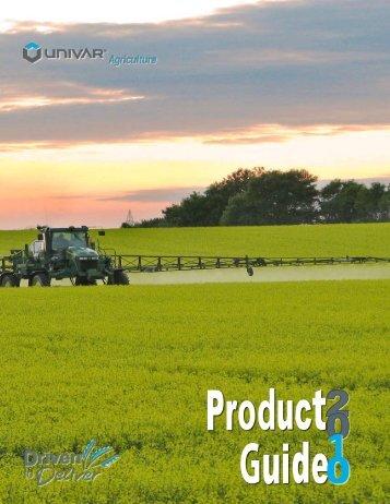 Product List – Prairie Region - Univar Canada