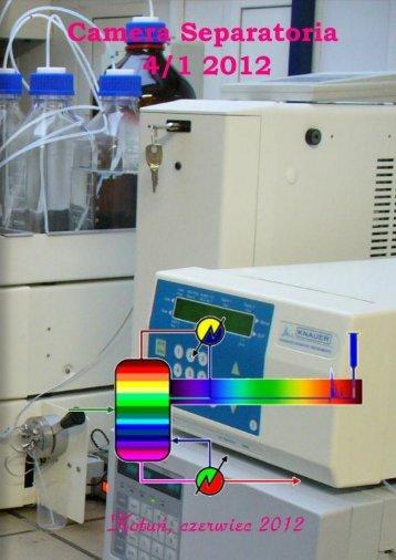 Camera Separatoria - Zakład Chemii Analitycznej - Uniwersytet ...