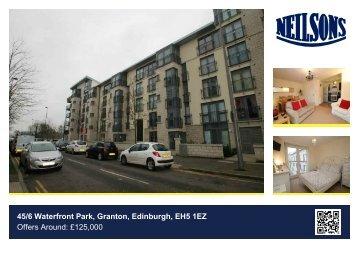 45/6 Waterfront Park, Granton, Edinburgh, EH5 1EZ Offers Around ...