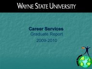 Annual Report Career Services Wayne State University