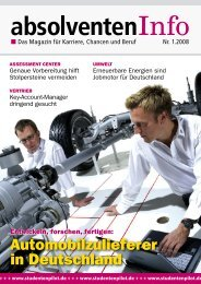 1.2008 absolventenInfo e www.studentenpilot.de