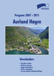 Program 2007-2011.pdf - Aurland.com